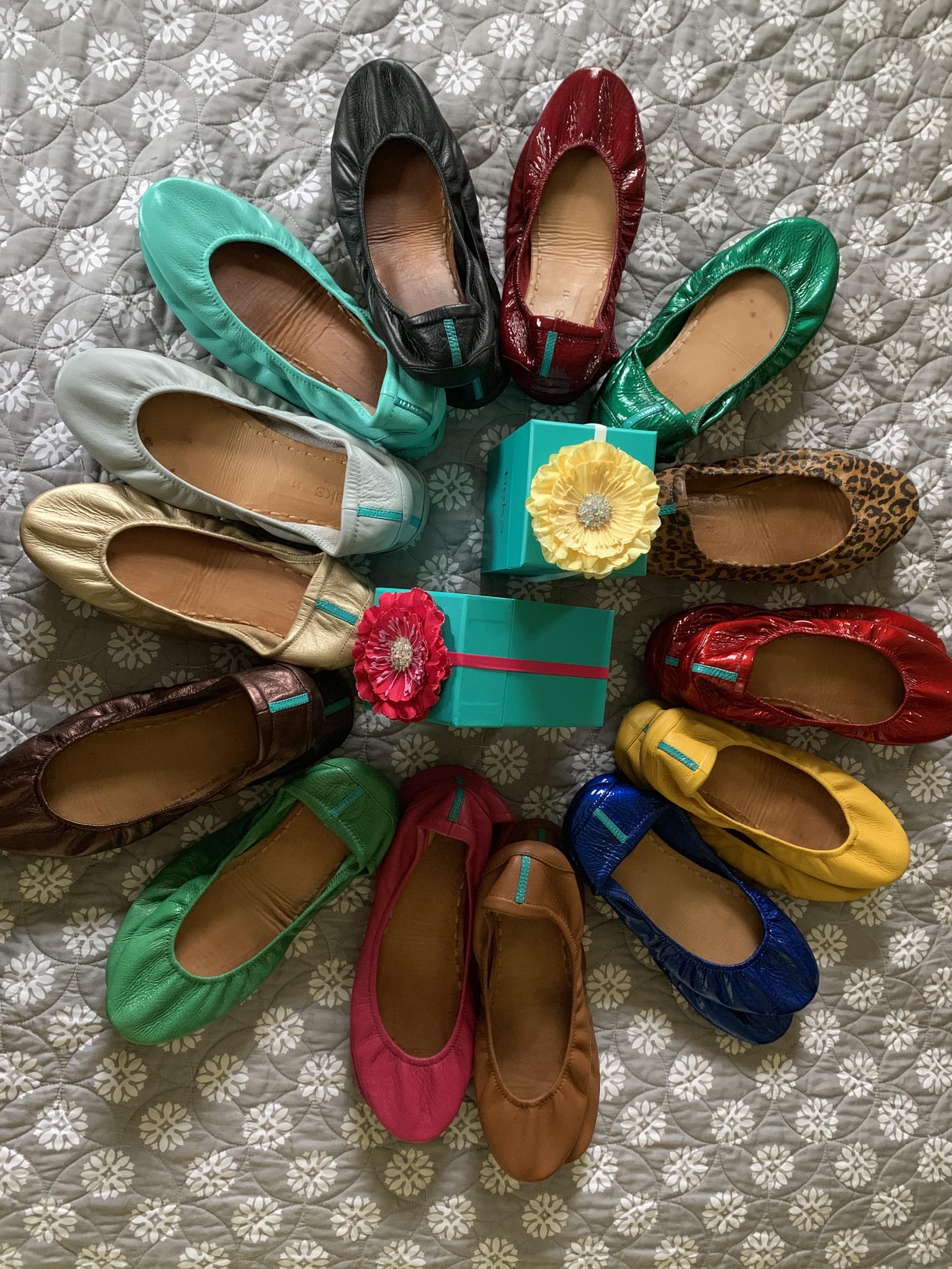 Tieks, ballet flats, shoe review, Tieks collection, plus size shoes