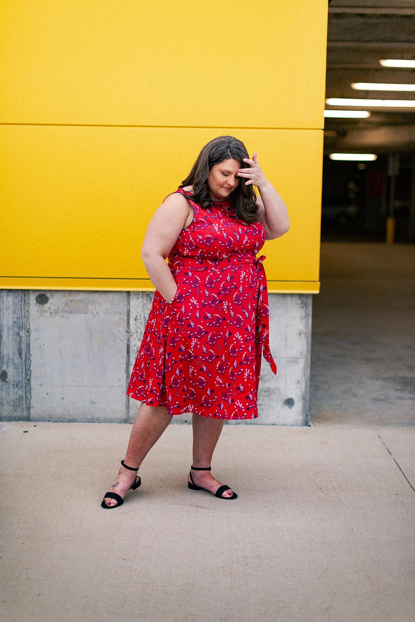 Blogger, St. Louis Blogger, Plus Size Blogger, eShakti, Ikea photo shoot, Under Grace Photo